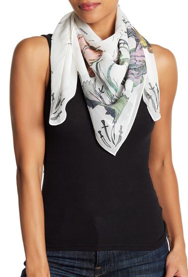 Accesorii Femei Rag Bone Floral Dagger Print Silk Scarf WHT FLRL CMO