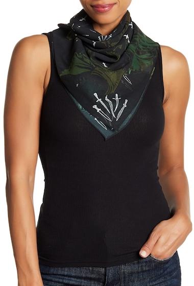 Accesorii Femei Rag Bone Floral Dagger Print Silk Scarf BLK FLRL CMO