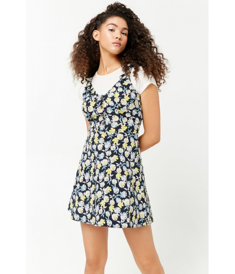 Imbracaminte Femei Forever21 Floral Print Button-Front Dress NAVYWHITE