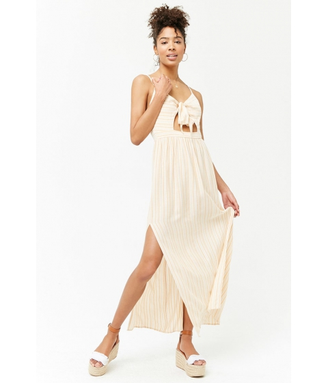 Imbracaminte Femei Forever21 Striped Cutout Maxi Dress YELLOWWHITE