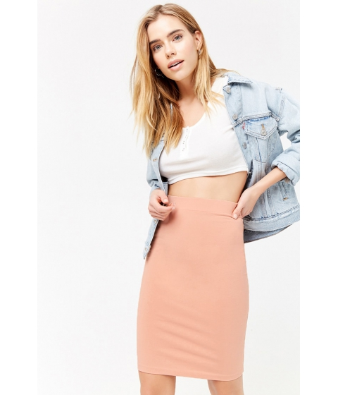 Imbracaminte Femei Forever21 Knit Pencil Skirt APRICOT