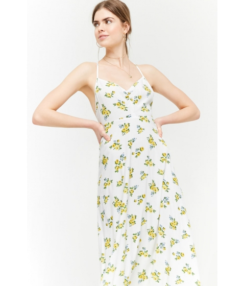 Imbracaminte Femei Forever21 Floral Print Maxi Dress IVORYYELLOW