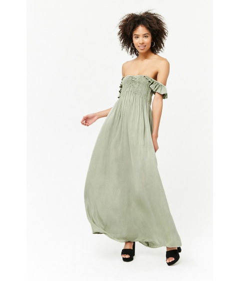 Imbracaminte Femei Forever21 Mineral Wash Maxi Dress SAGE