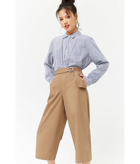 Imbracaminte Femei Forever21 Belted High-Rise Culottes COCOA