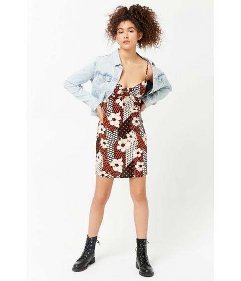 Imbracaminte Femei Forever21 Floral Print Cami Dress GINGERBLACK