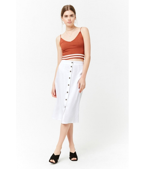 Imbracaminte Femei Forever21 Button-Front A-Line Skirt WHITE