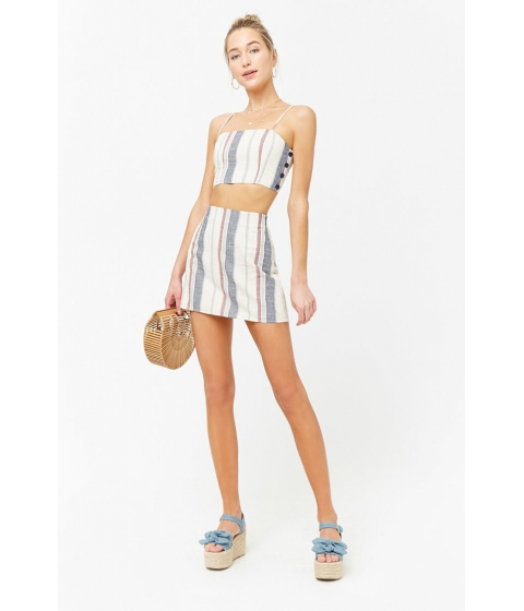 Imbracaminte Femei Forever21 Striped Mini Skirt CREAMRED