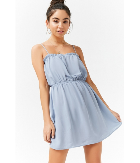 Imbracaminte Femei Forever21 Ruffle Cami Dress LIGHT BLUE