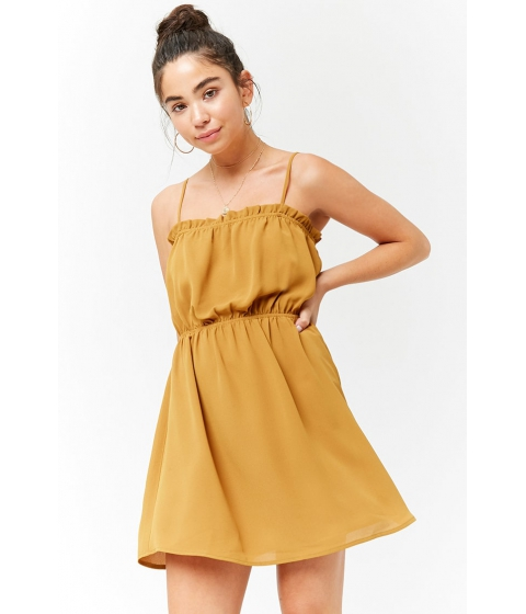 Imbracaminte Femei Forever21 Ruffle Cami Dress SUNSET GOLD