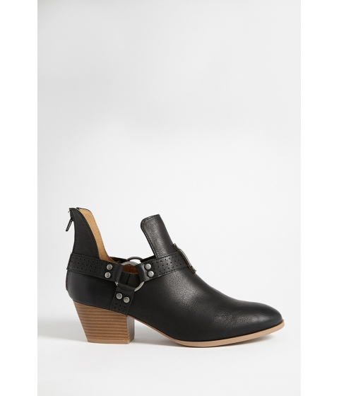 Incaltaminte Femei Forever21 Qupid Faux Leather Ankle Bootie BLACK
