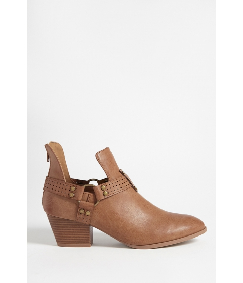 Incaltaminte Femei Forever21 Qupid Faux Leather Ankle Bootie CAMEL