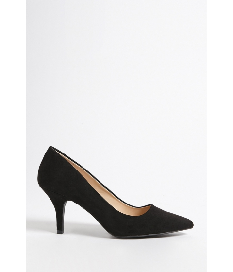 Incaltaminte Femei Forever21 Qupid Pointed Faux Suede Pumps BLACK