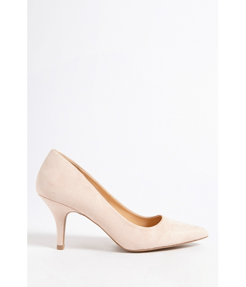 Incaltaminte Femei Forever21 Qupid Pointed Faux Suede Pumps NUDE