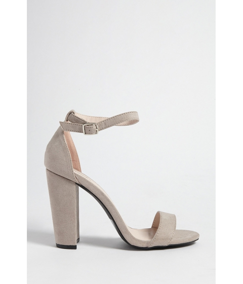 Incaltaminte Femei Forever21 Faux Suede Ankle-Strap Heels TAUPE