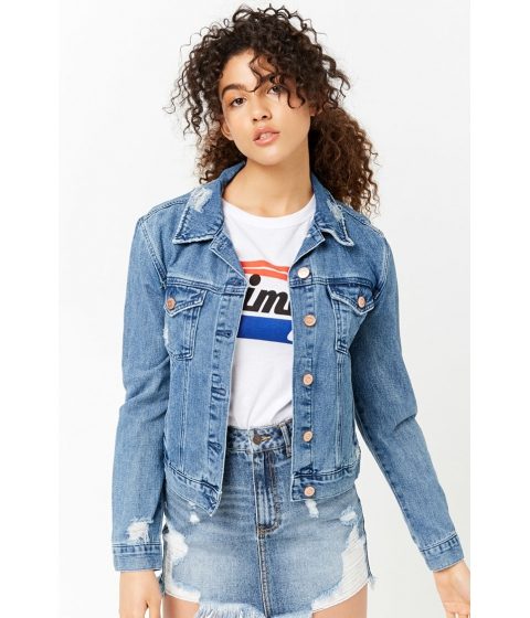 Imbracaminte Femei Forever21 Distressed Denim Jacket DENIM