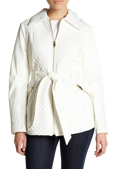 Imbracaminte Femei Via Spiga Quilted Waist Jacket SUMMER WHI