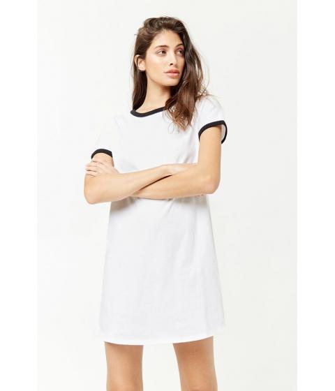Imbracaminte Femei Forever21 Ringer T-Shirt Dress WHITEBLACK