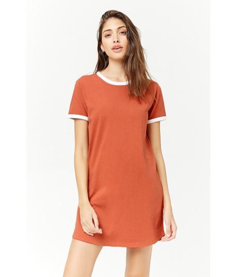 Imbracaminte Femei Forever21 Ringer T-Shirt Dress RUSTWHITE