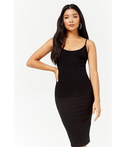 Imbracaminte Femei Forever21 Ribbed Midi Bodycon Dress BLACK