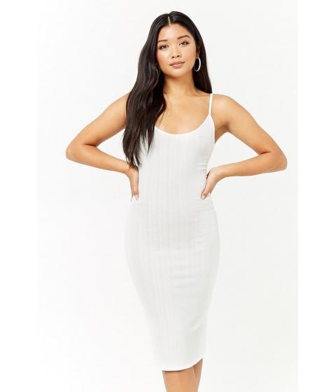Imbracaminte Femei Forever21 Ribbed Midi Bodycon Dress CREAM