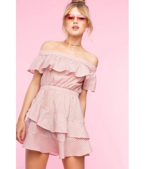 Imbracaminte Femei CheapChic Audrey Stripe Ruffle Flare Dress FuchsiaPink Pattern