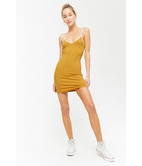 Imbracaminte Femei Forever21 Ribbed Cami Mini Dress MUSTARDCREAM