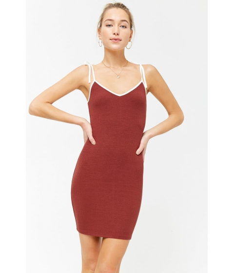 Imbracaminte Femei Forever21 Ribbed Cami Mini Dress BROWNCREAM