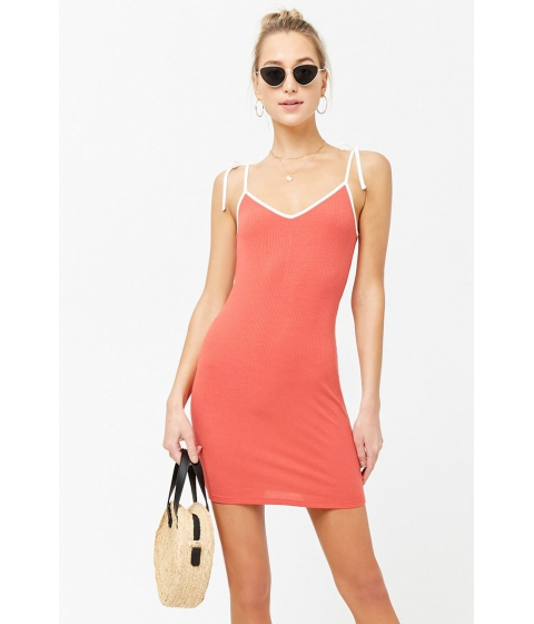 Imbracaminte Femei Forever21 Ribbed Cami Mini Dress CORALCREAM