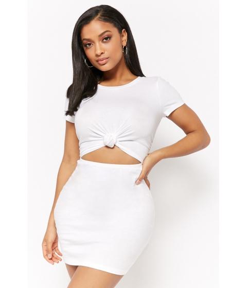Imbracaminte Femei Forever21 Cutout T-Shirt Dress WHITE
