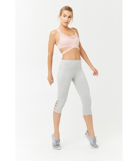 Imbracaminte Femei Forever21 Active Strappy Capri Leggings HEATHER GREY