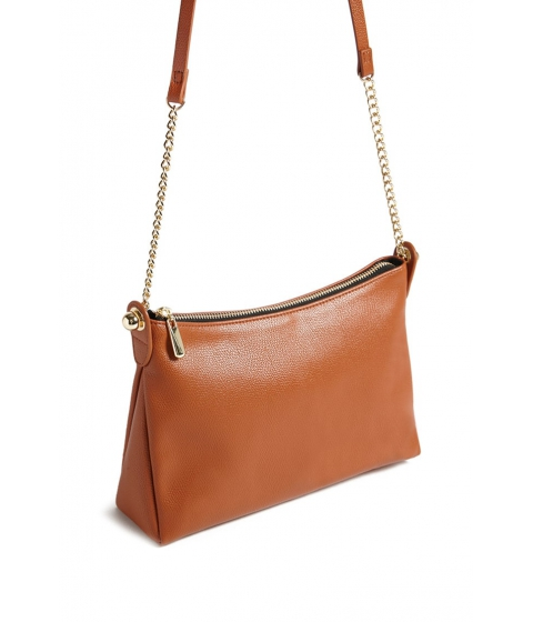 Genti Femei Forever21 Faux Leather Crossbody Bag TAN
