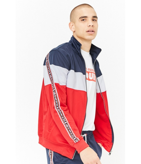 Imbracaminte Barbati Forever21 Rebel Minds Track Jacket NAVYRED