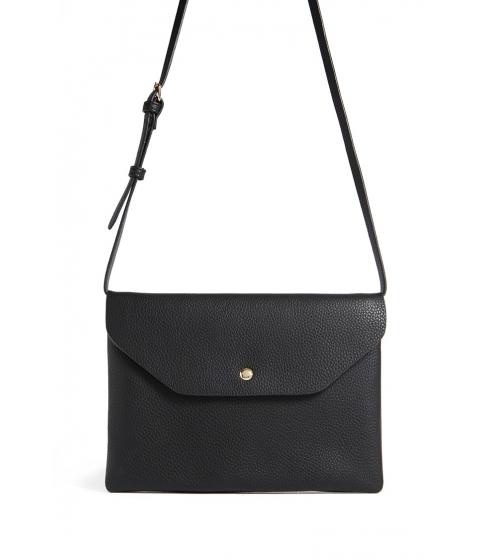 Genti Femei Forever21 Faux Leather Envelope Crossbody Bag BLACK