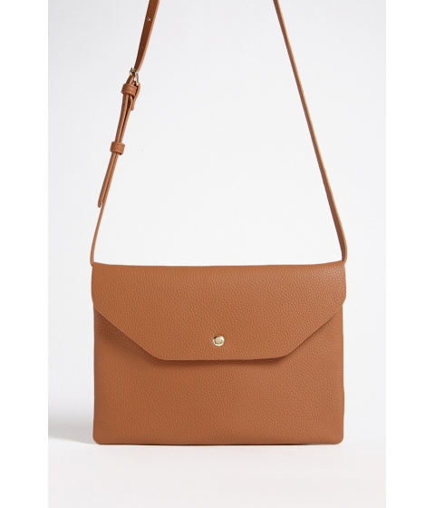 Genti Femei Forever21 Faux Leather Envelope Crossbody Bag CAMEL