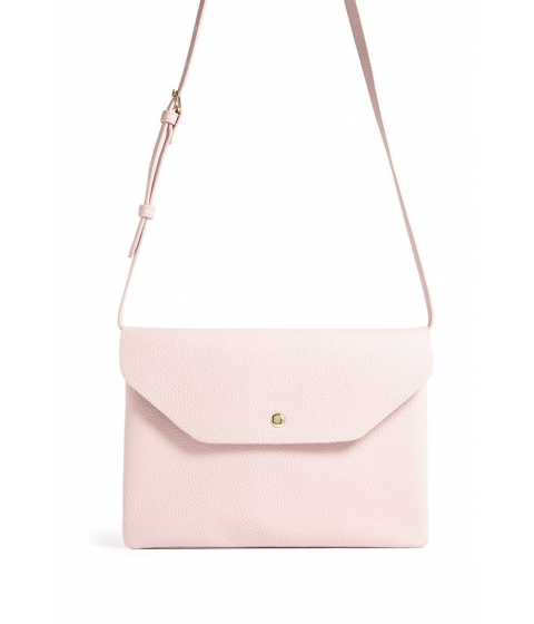 Genti Femei Forever21 Faux Leather Envelope Crossbody Bag LIGHT PINK