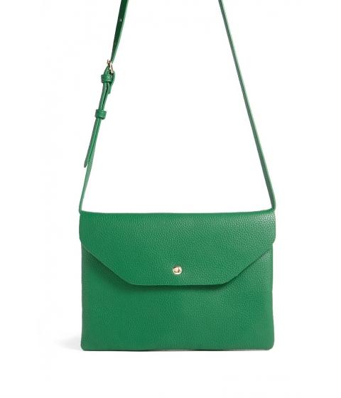 Genti Femei Forever21 Faux Leather Envelope Crossbody Bag GREEN
