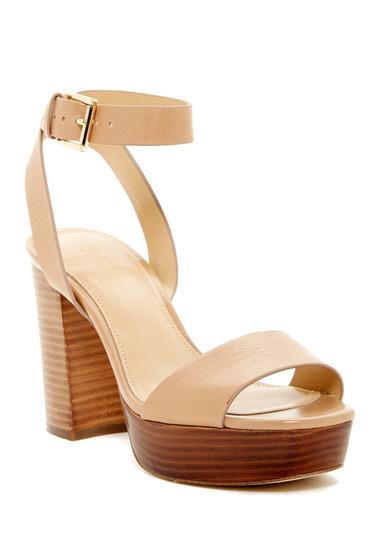 Incaltaminte Femei MICHAEL Michael Kors Leonora Ankle Strap Platform Sandal CASHEW