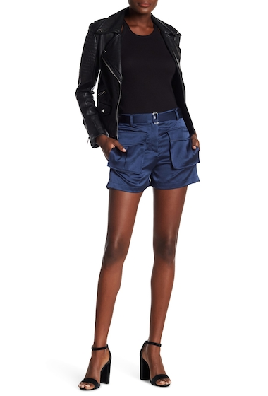 Imbracaminte Femei Theory Patch Pocket Silk Shorts DARK BRISK