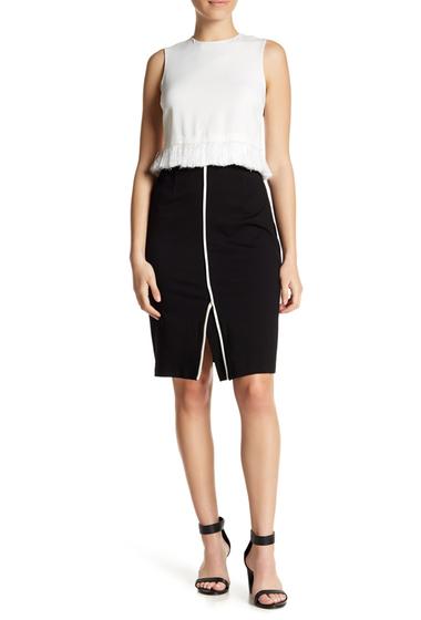 Imbracaminte Femei Amanda Chelsea Solid Pencil Skirt Petite BLKWHITE