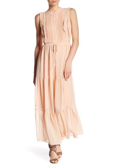 Imbracaminte Femei Rebecca Minkoff Ami Pintucked Ruffle Maxi Dress PINK SAND
