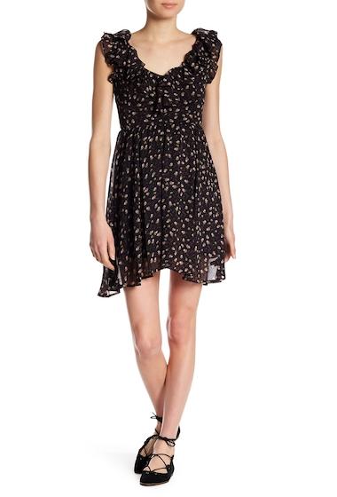 Imbracaminte Femei Rebecca Minkoff Brista Floral Ruffle Minidress BLACK MULT