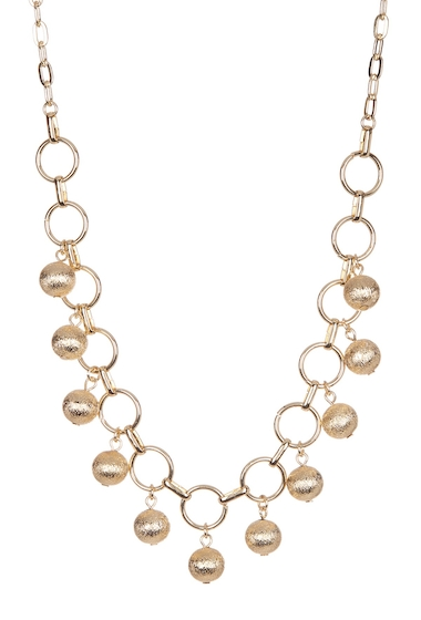 Bijuterii Femei 14th Union Textured Sphere Accent Link Necklace GOLD