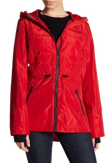 Imbracaminte Femei MICHAEL Michael Kors Quilted Hooded Anorak RED