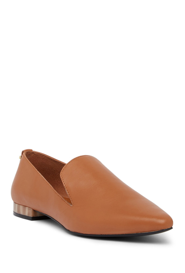 Incaltaminte Femei Calvin Klein Elin Leather Loafer COGNAC