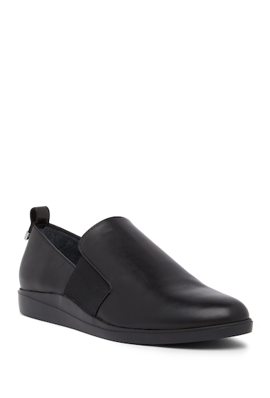 Incaltaminte Femei Calvin Klein Shanin Leather Loafer BLACK