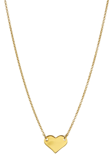 Bijuterii Femei ADORNIA 14K Yellow Gold Plated Sterling Silver Heart Necklace YELLOW