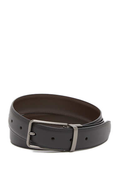 Accesorii Barbati Original Penguin Greek Goddess Reversible Leather Belt BLK20