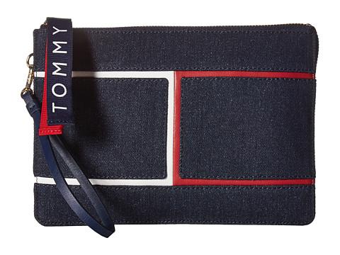 Genti Femei Tommy Hilfiger 3 Compartment Pouch Wristlet Denim