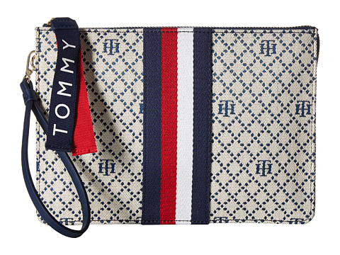 Genti Femei Tommy Hilfiger 3 Compartment Pouch Wristlet NavyNatural