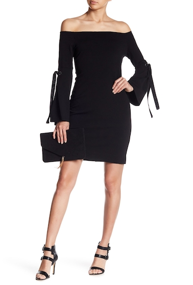 Imbracaminte Femei Fifteen Twenty Bell Sleeve Off-the-Shoulder Dress BLACK